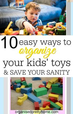 Is the mess and clutter of the kids' toys driving you crazy? Here's 10 organizing ideas and storage solution. Best toy organisation ideas for kids. Whether in a children playroom, living room or bedroom. Shelves #playroom #playroomideas #toyorganization #playroomstorage #kidsrooms #kidsbedroom #kidstoystorage #toystorageideas #declutter #toystorage