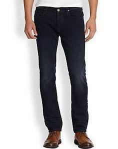 Hudson Men Dark Wash Blake Slim Straight Lights Out Denim Jeans Size 29 NEW $205 #Hudson #BlakeSlimStraight