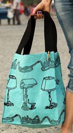 Large Lamp Tote Bag