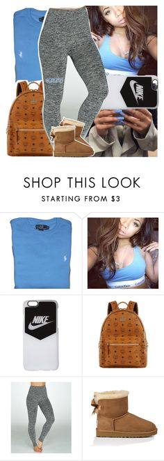 """""""lately you say she been killin the vibe, can't turn no h*e to no wife"""" by lamamig ❤ liked on Polyvore featuring Ralph Lauren, NIKE, MCM, Assets and UGG Australia"""