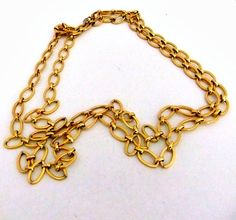 Monet Goldtone Chain Link Necklace 53 in Long by ediesbest on Etsy, $10.95