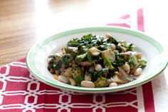 Sauteed Cranberry Beans with Baby Potatoes, Chard & Okra. Visit http://www.blueapron.com/ to receive the ingredients.