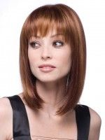 Medium Length Hairstyles with bangs for Round Faces