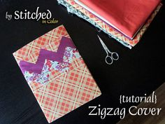 Zigzag Journal Cover Tutorial by StitchedInColor, via Flickr