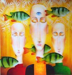 "Saatchi Art Artist christophe kro; Painting, ""Open up your mind"" #art"