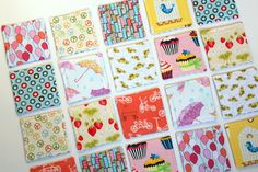 Seriously smart fabric scrap busting project!!! Memory game for toddlers!