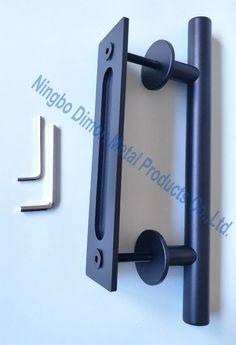Dimon Stainless steel door handle wood sliding door handle America style sliding barn door handle stainless steel knob DM-WDL008