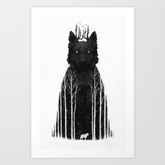 The+Wolf+King+Art+Print+by+DB+Art+-+$18.00
