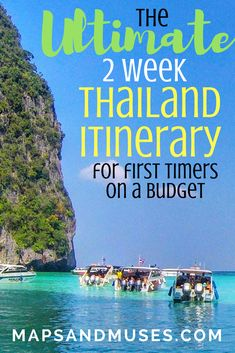 Heading to Thailand for the first time? Check out my ultimate 2 week Thailand itinerary perfect for first timers, couples, or anyone on a budget here: https://www.mapsandmuses.com/2-week-thailand-itinerary/
