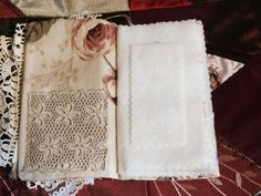Needle book needle case Shabby Chic Parisian by MyIrishGypsy