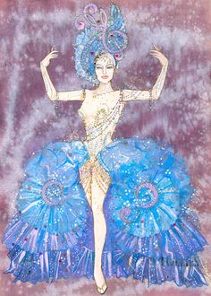 Follies-This is another nominee for best costume design at the 2012 Tony awards, and another favorite of mine.