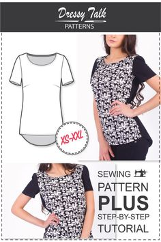 Blouse Patterns Womens Sewing Patterns by DressyTalkPatterns
