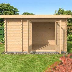 2.5m x 4m Waltons Zen log cabin.  £2733.85 (incl. extras)  http://www.waltons.co.uk/zen-25x4-zen-log-cabin