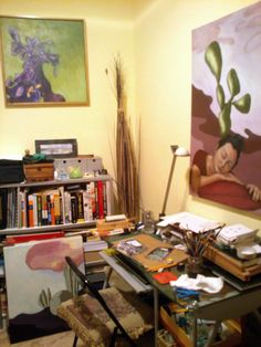 My recent studio, this second room is for drawing and archiving artworks. 2015