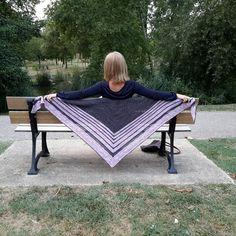 Test knit châle Linda par Claire G