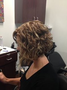 long naturally curly bob  Natural curly graduated bob