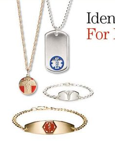 Universal Medical ID - Medical Alert ID Jewelry, Custom Engraved Medical Bracelets and Necklaces