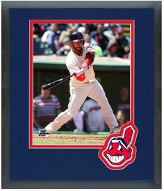 Mike Aviles 2014 Cleveland Indians - 11 x 14 Team Logo Matted/Framed Photo