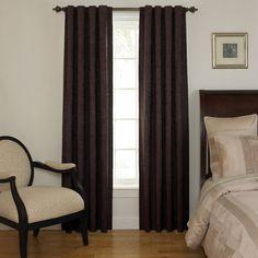 Sound Asleep Room Darkening Window Panel in Aubergine Tab Curtains, Black Curtains, Room Darkening Curtains, Hanging Curtains, Thermal Curtains, Valance, Window Panels, Window Coverings, Window Treatments