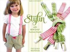 No-Slip Kid Friendly Suspenders with New Dritz Fashion Elastic | Sew4Home