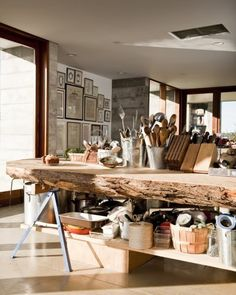 reclaimed wood - love the look - would need to polish the edge to avoid snags