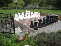 A giant chess set for the back yard.  :)  Looks like fun.