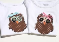 Cute owl shirt for Macey's first?  Can I make it?
