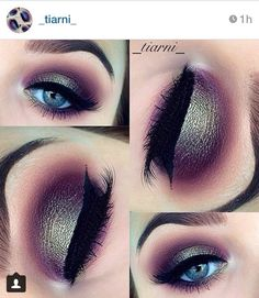Another pretty eyeshadow look that I'll never do on myself but Pin just for the hell of it.