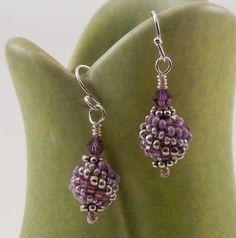 Beaded Bead Jewelry earrings seed bead woven by TheBeadedBead