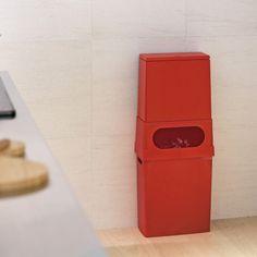 citiesocial – TUBELOR kitchen flap compo 組合式分類廚餘垃圾桶(上層+下層) - 熱情紅