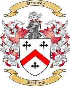 Kennedy Family Coat of Arms from Scotland