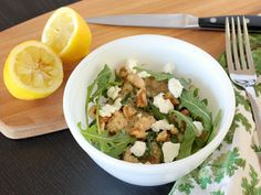 APPLE A DAY: Meatless Monday--Quinoa Salad with Arugula, Goat Cheese, and White Beans