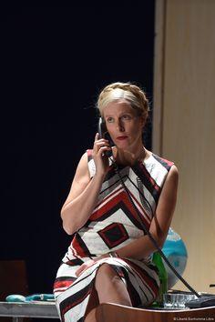 Karine Viard pendant les répétitions de Vera au théâtre d'Hérouville (© Tristan Jeanne-Valès). Mai 2016 R