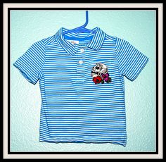 Boys Rockabilly Day of Dead Polo Shirt....size 18-24 months by DollfaceBettys on Etsy