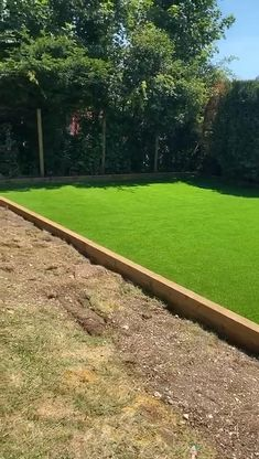 A new artificial lawn created for the family to play on