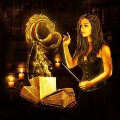 Sorceress casting a spell, summoning a dragon Fantasy Concept Art, Fantasy Story, Fantasy Art, My Fantasy World, Dragon Art, Dragon Book, Magical Creatures, Book Of Shadows, Cool Artwork