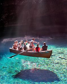 Tag who'd be in your boat! Melissani Cave, Greece. By @kyrenian