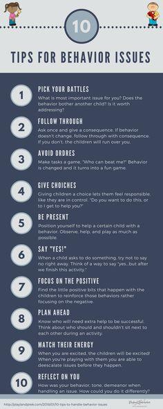10 Tips for Behavior Issues