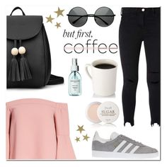 """""""Start your day with coffee"""" by lynksmichelle ❤ liked on Polyvore featuring Topshop, adidas, Fresh, VANINA, women, contestentry, fashionset, coffeebreak and Spring2017"""