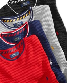 Polo Ralph Lauren Men's Open Weave Waffle-Knit Thermal - Cruise Navy S Ralph Lauren Style, Polo Ralph Lauren, Gents T Shirts, Lacoste, Nike Vest, Denim Jacket Men, Men Design, Open Weave, Waffle Knit