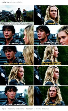 This scene was the cause of the death of my shipper heart. BELLARKE IS RISING AND I'M SCREAMING. Bellarke, Bellamy Blake, Clarke Griffin, The 100