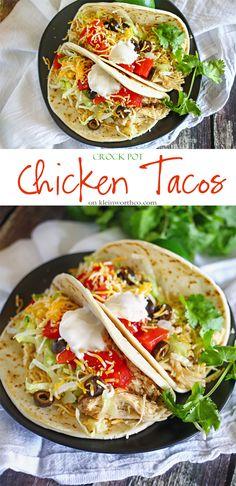 Crock Pot Chicken Tacos : Easy Family Dinner Ideas #recipe #meal #crockpot