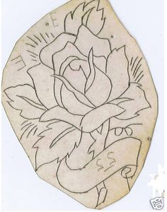 coleman-rose | Vintage Tattoo Flash | Flickr Old Tattoos, Tattoos, Vintage Rose Tattoos, Americana Tattoo, Vintage Tattoo Art, Tattoo Drawings, Tattoo Stencils, Rose Tattoo
