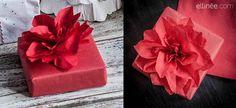DIY Paper Crafts : DIY Paper Napkin Poinsettia