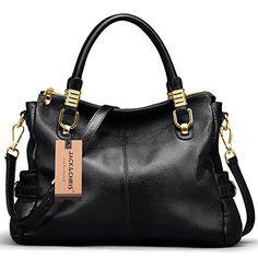 07e0139749f5 S-ZONE Women s Vintage Genuine Leather Tote Shoulder Bag Top-Handle  Crossbody Handbags Ladies Purse (Rose Red) - Comparetip