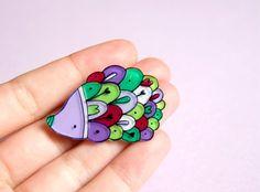 hedgehog brooch by lacravatteduchien on Etsy, €12.00