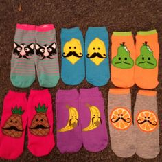 hahahah must have those fruit with mustache socks! soo cute and funny