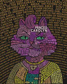 PC Typography Portrait Art Print by Jill Giovanni - X-Small Typography Portrait, Typography Art, Great Works Of Art, Bojack Horseman, Portrait Art, Concept Art, Geek Stuff, Fan Art, Art Prints