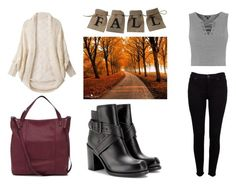 """""""Fall look"""" by yseultdel ❤ liked on Polyvore featuring Hudson, McQ by Alexander McQueen, Topshop, Simons, Fall and look"""