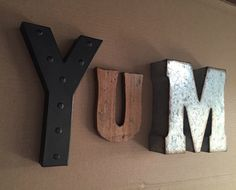 Yum Sign Yum Letters Kitchen Wall Decor by EllaMurphyDesigns